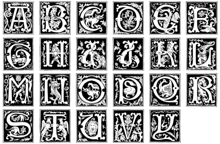 16th_Century_Alphabet_images_by_barefootliam_stock